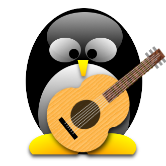 Tux playing the Guitar Avatar
